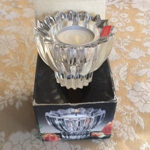 NWOT; Vintage Crystal Votive Candle Holder
